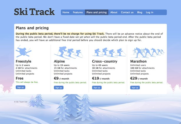 Skitrack-pricing