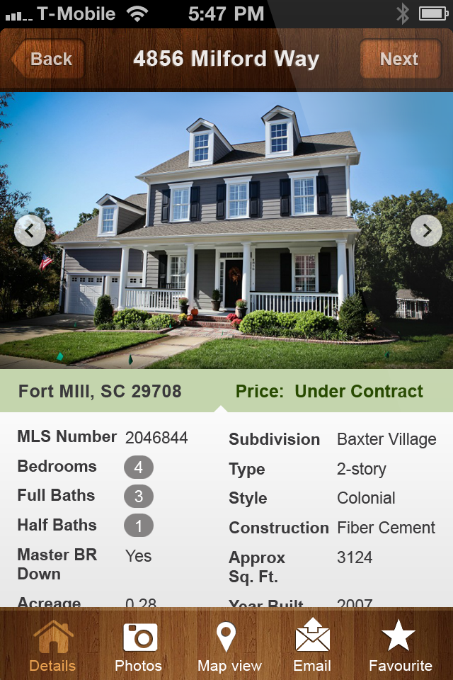 Andy Bovender app Selected Home Details screen.png